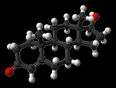3D chemický vzorec testosteronu