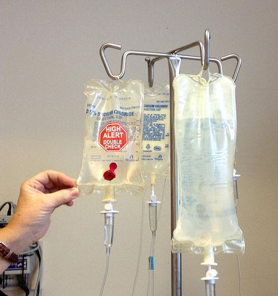 Léčba chemoterapií podávaná ve formě infuze