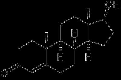 Testosteron - chemický vzorec
